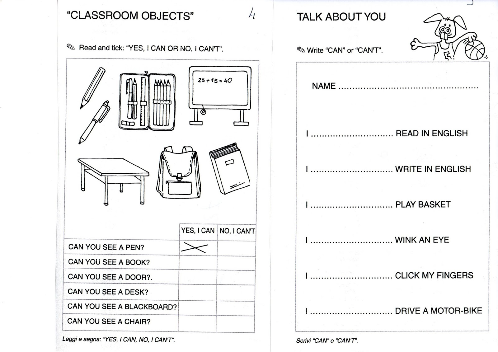 Esl Homework Worksheet