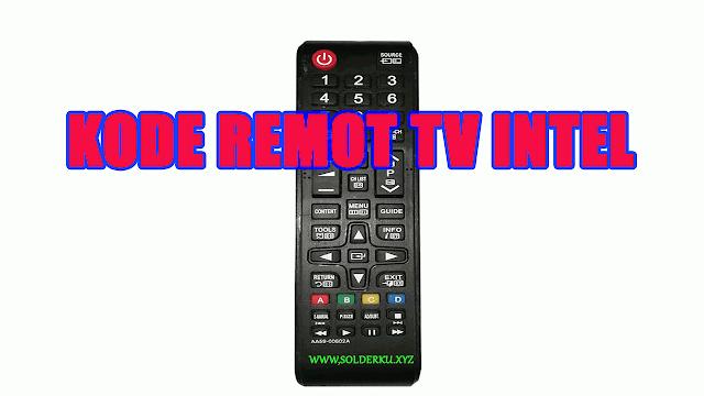 Kode Remot tv intel