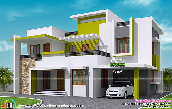 232 sq m contemporary house kerala home design and floor Latest model houses