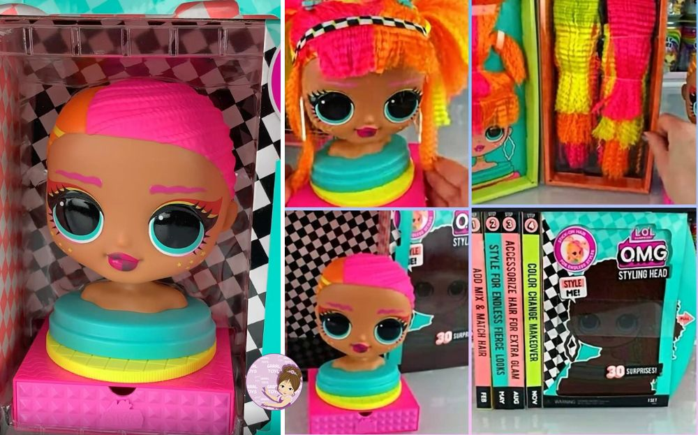 L.O.L. Surprise O.M.G. Neonlicious Styling Head first look