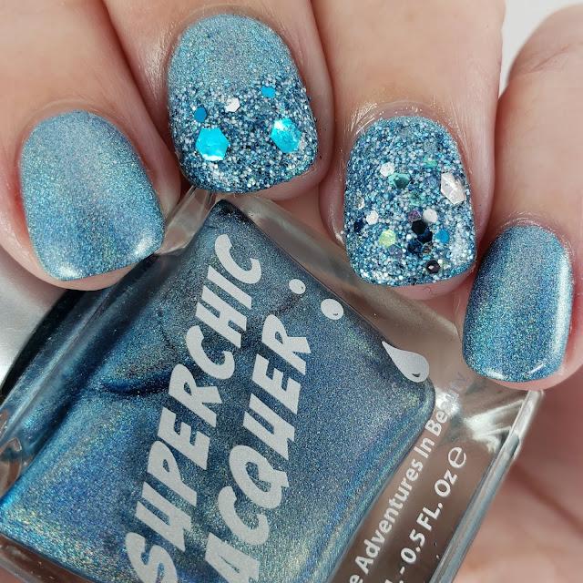 glitter, glitter mix, holo, iridescent, blue, silver, white,
