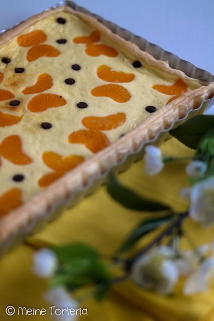 Mandarinen-Quark-Tarte mit Blätterteig