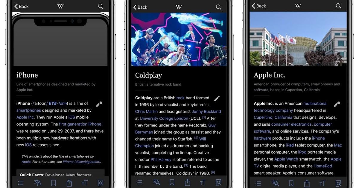 維基百科為 iPhone X 新增漂亮黑色佈景主題