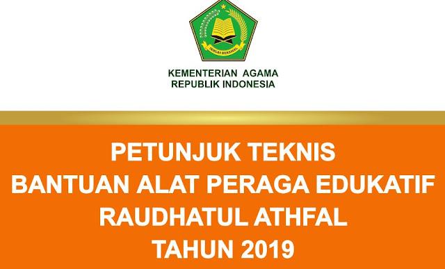 JUKNIS ALAT PERAGA EDUKATIF RA TAHUN 2019