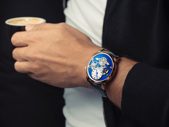 Wristshot of the MB&F LM2 Red Gold Blue