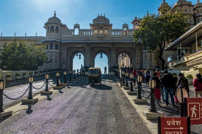Way to City Palace Udaipur