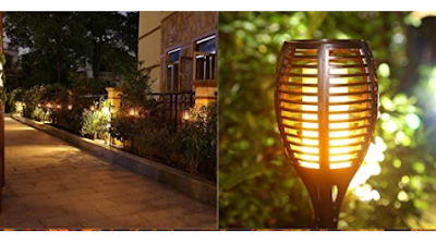 XERGY Solar Lights Dancing Fire Mashaal Flame Decoration Lighting for Garden, Balcony, Driveway