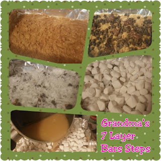 grandmas 7 layer bars steps collage