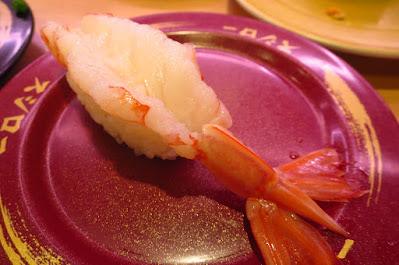 Sushiro, big red shrimp nigiri