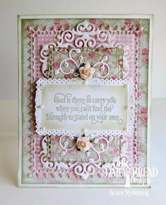 Our Daily Bread Designs Stamp Set: Healing Prayers, Our Daily Bread Designs Custom Dies: Lavish Layers, Filigree Frames, Lovely Leaves, Our Daily Bread Designs Paper Collection: Shabby Rose