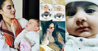 Aiman Khan New Pictures with her Daughter Amal Muneeb