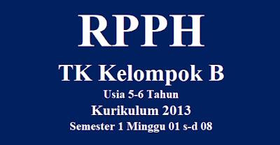 RPPH TK Kelompok B Usia 5-6 Tahun