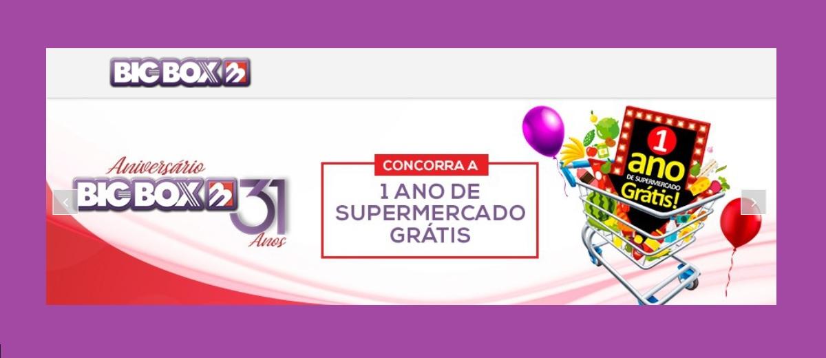 Promoção Big Box Aniversário 2020 - Um  Ano de Compras Grátis Supermercado