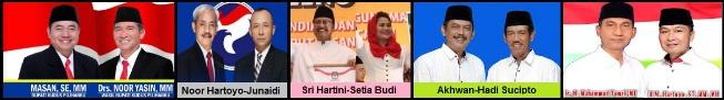 Lima pasang calon Bupati dan wakil Bupati Kabupaten Kudus 2018