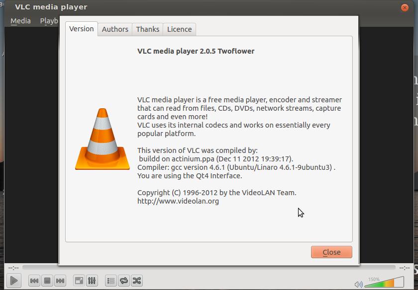 vlc player plugin 2.0.5