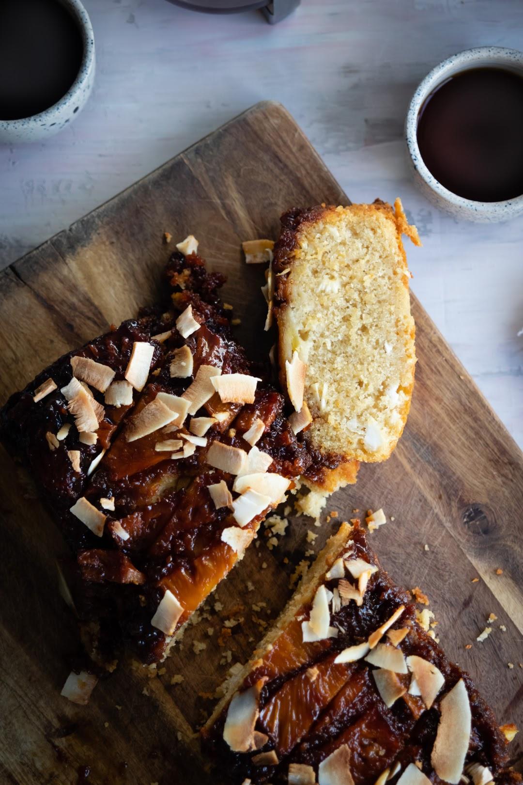Fotografia de alimentos marua veledo torta piña volteada