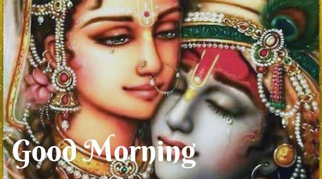 best radha krishna good morning images