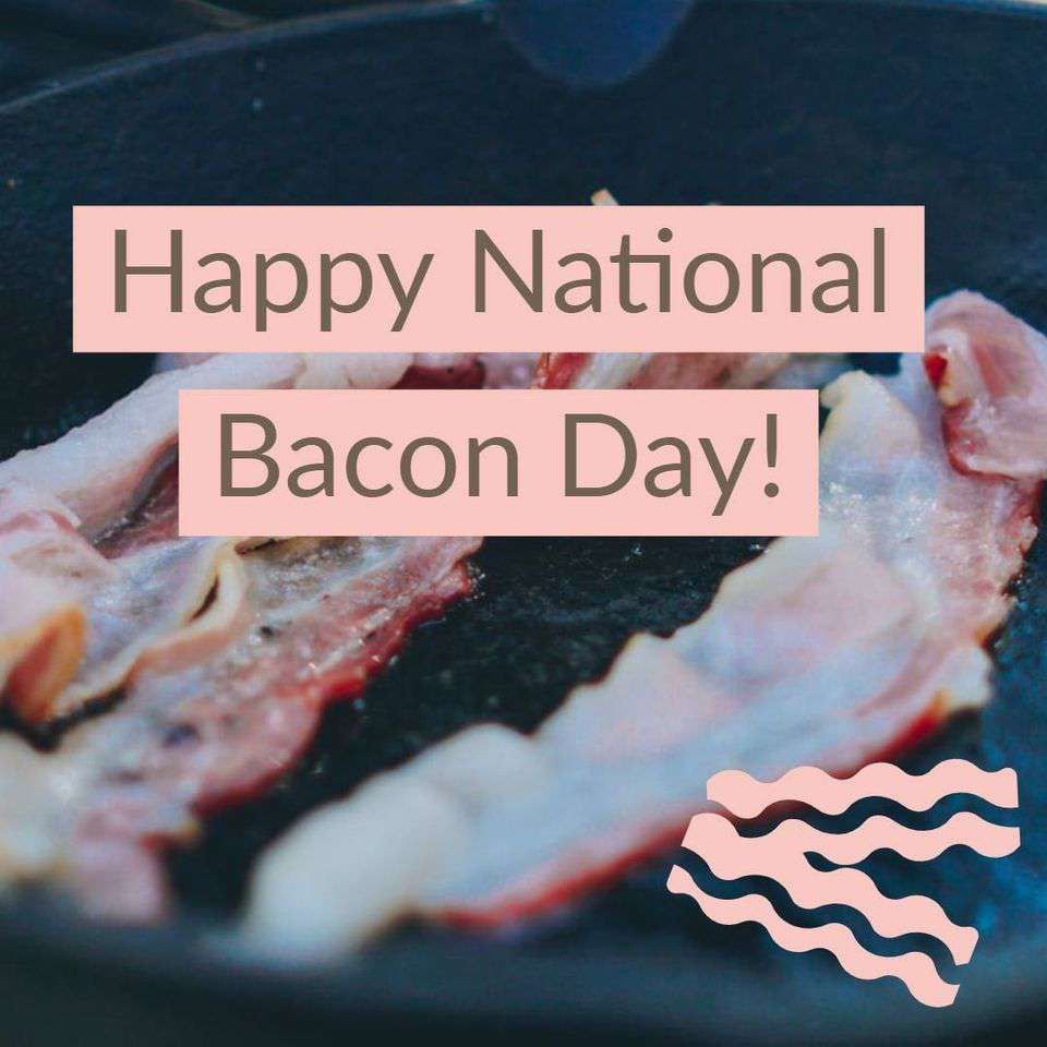 National Bacon Day Wishes Images download