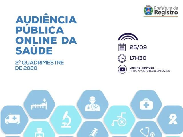 Saúde de Registro-SP presta contas do 2 quadrimestre de 2020 em Audiência Pública Online