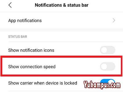 cara menyembunyikan kecepatan internet xiaomi