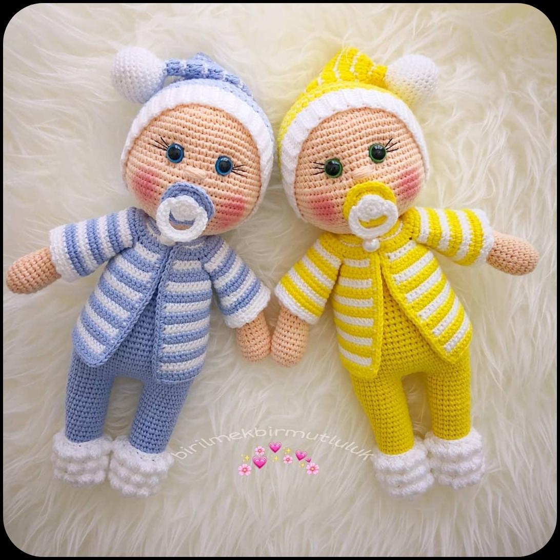 Samyelinin Örgüleri: Amigurumi Doll Pacifier Baby (Free English ... | 1092x1092