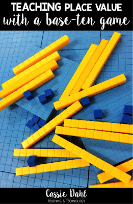 Teaching place value can be a tricky concept. This fun base-ten game engages students and uses manipulatives to support their math learning.