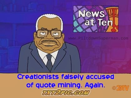 "Anti-creationists make false charges of ""quote mining"""