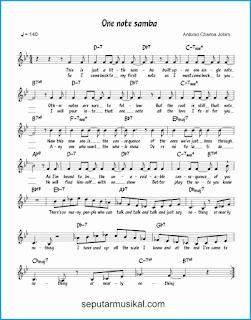 chord one note samba lagu jazz standar