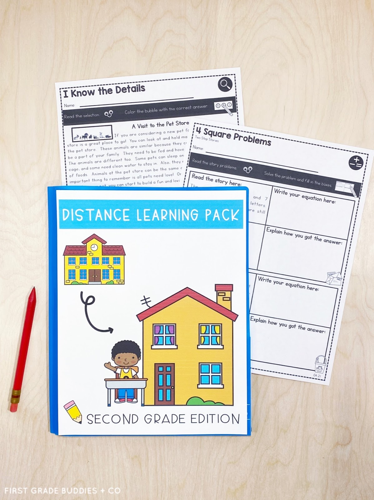 Resources for At-Home and Distance Learning   First Grade Buddies [ 1600 x 1198 Pixel ]