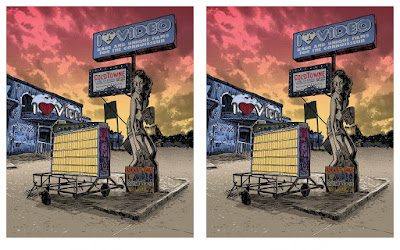 "Lost Austin ""I Love Video"" Screen Print by Tim Doyle"