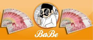 cara mendapatkan uang dari babe