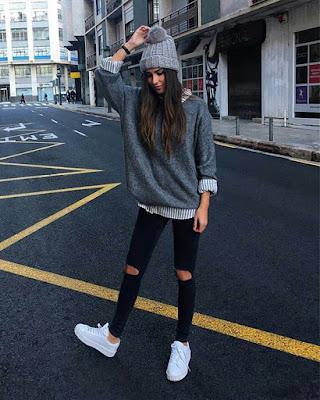 Outfit juvenil adolescente de invierno casual