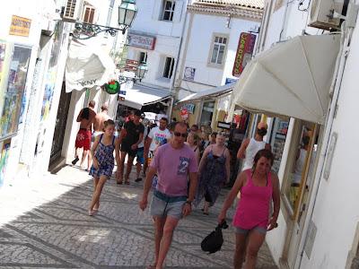 Street of the old quarter of Albufeira in Algarve