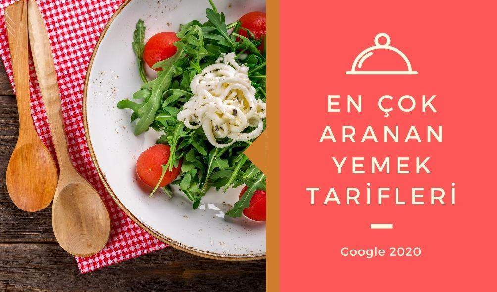 Yılının Arama Trendleri google'de en çok arananlar yemek tarifleri