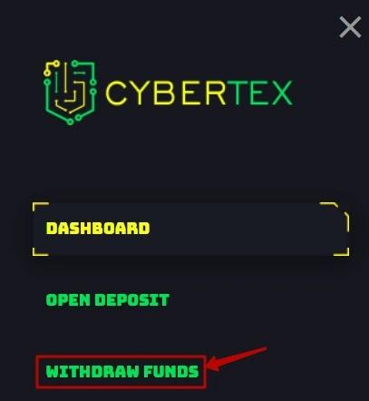 Вывод средств в Cybertex