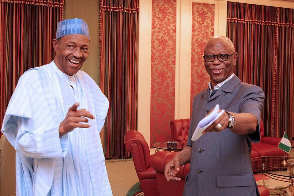Buhari greets former APC chairman Cheif Odigie Oyegun at 80 - Herald Nigeria