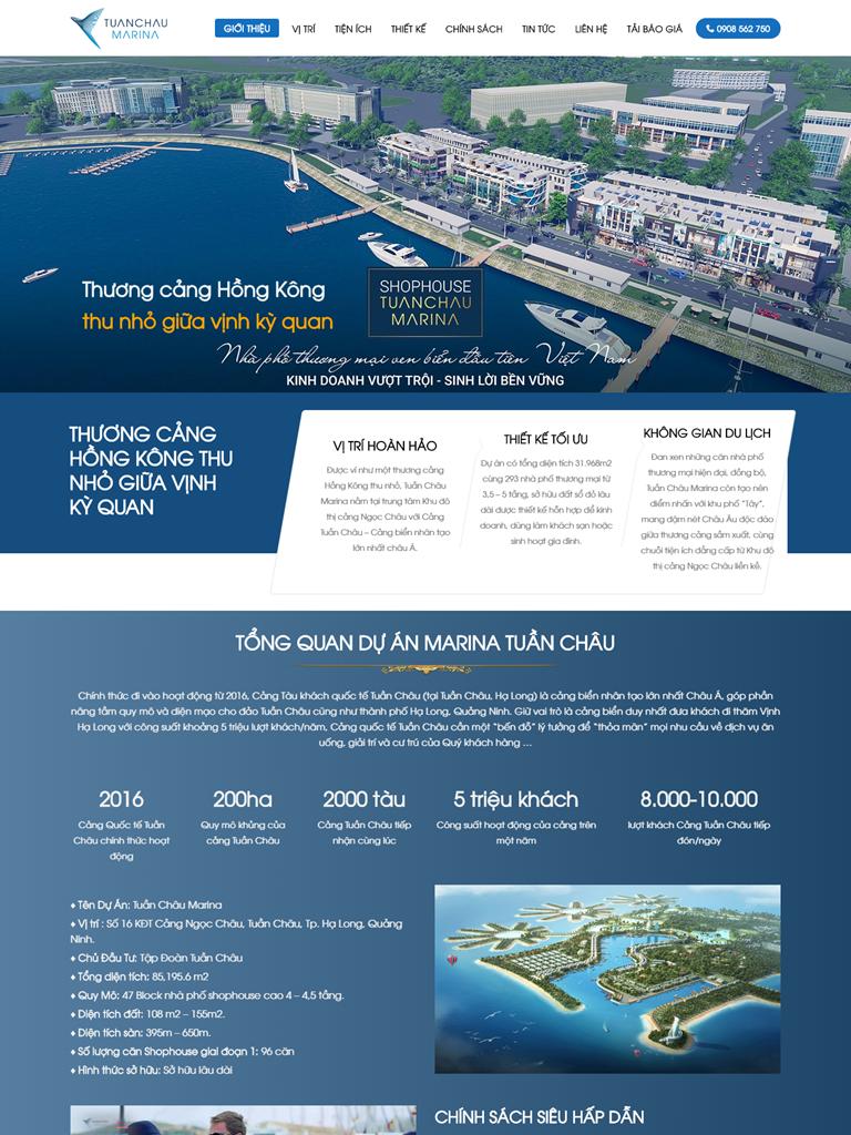 Landing Page BĐS Dự án Căn hộ Tuần Châu Marina