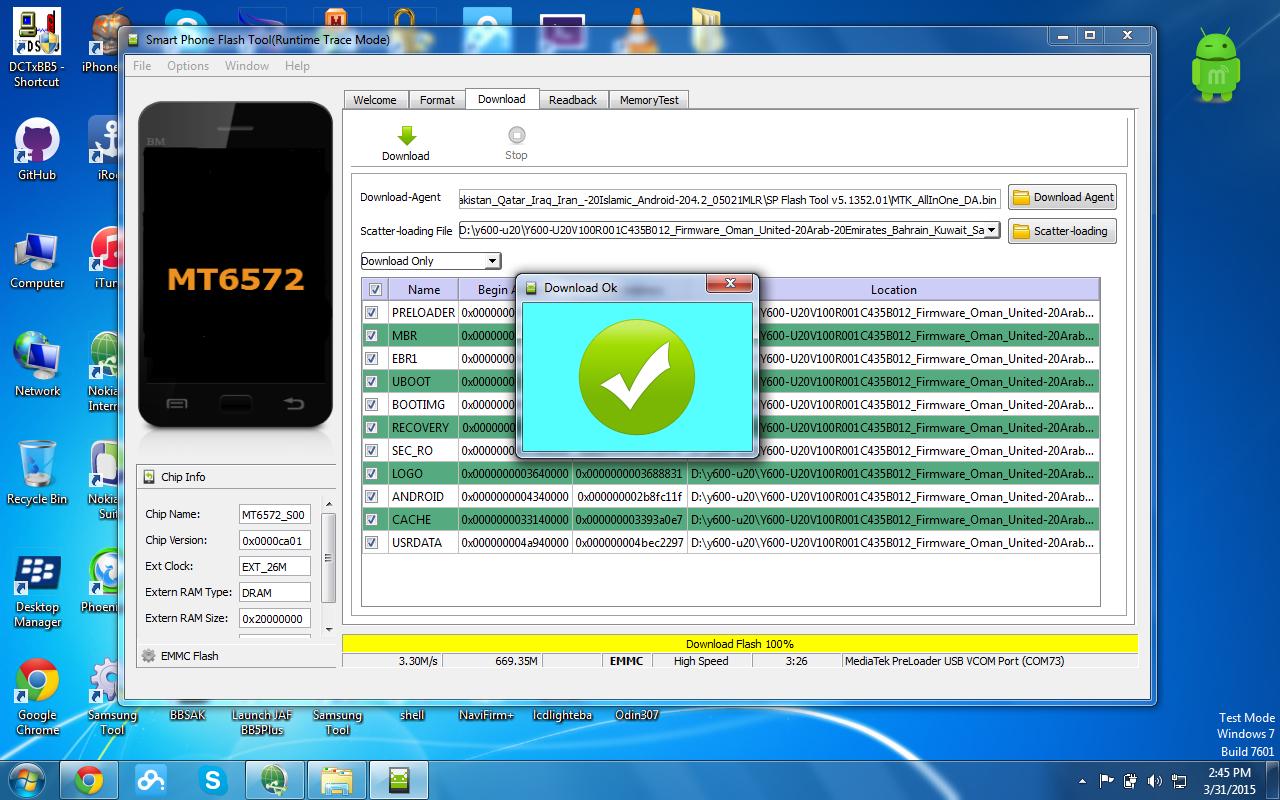 Akash Mobile Zone: Huawei Y600-U20 flash file firmware mt6572 4 2 2