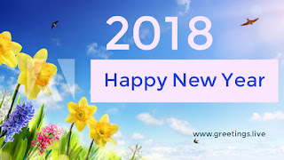Sun flowers in New year greetings