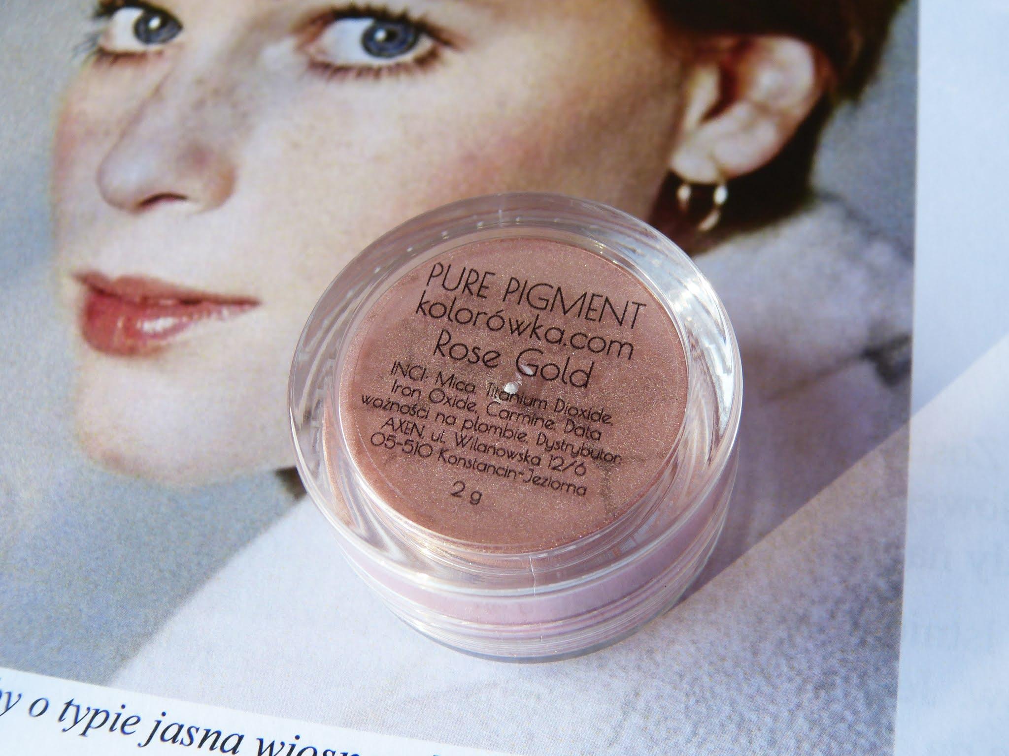 Pure Pigment Rose Gold z Kolorowka.com - dla którego typu kolorystycznego będzie najlepszy?