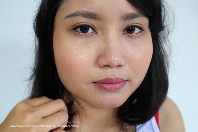 FOTD MUFE Pressed Powder dan Cream Blush