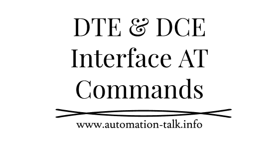 DTE & DCE Interface AT Commands with Syntax