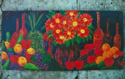 Red sunflower  still life 2000 eileenaart