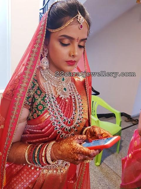 Opulent Bride in Bottumala and Diamond Sets