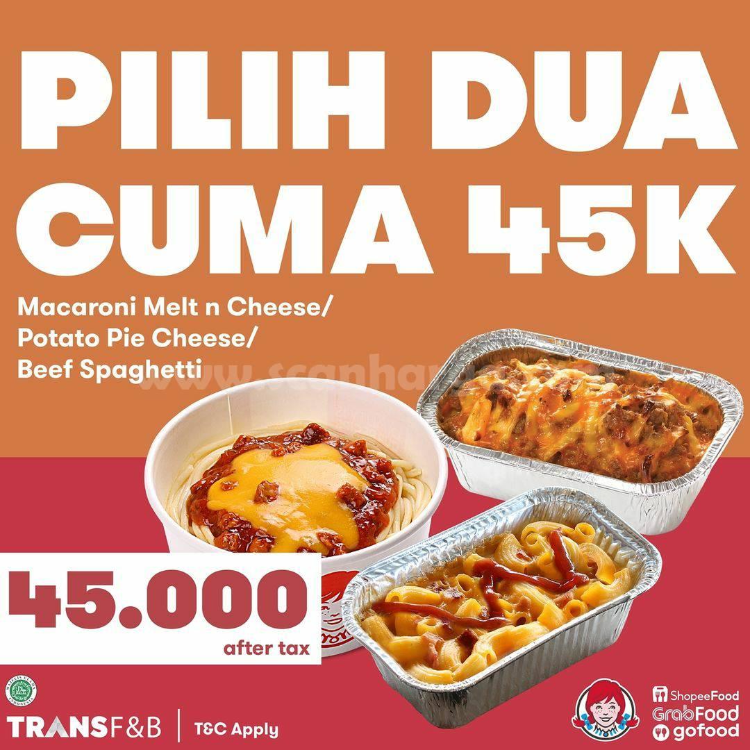 Wendy's Promo Pilih Dua Cuma Rp. 45.000