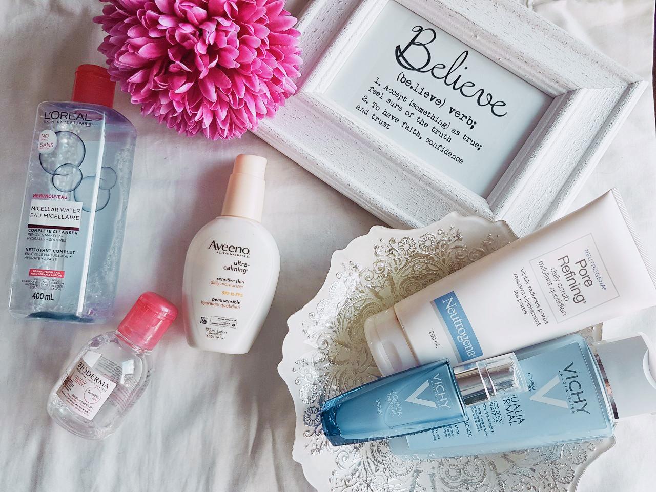 skincare, beauty, neutrogena, Vichy, bioderma, health, skin health, aveeno