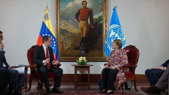 Bachelet evalúa en Venezuela consecuencias de bloqueo de EEUU
