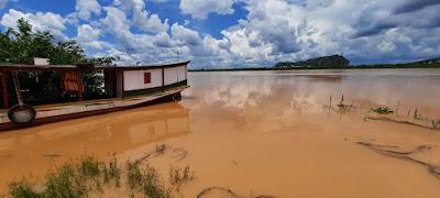 Rio São Francisco continua subindo e já chega a mais de 6 metros em Bom Jesus da Lapa