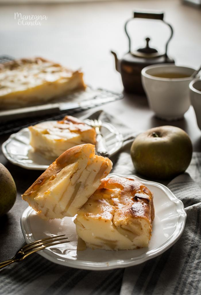 Tarta Mattonella de manzana y ricotta