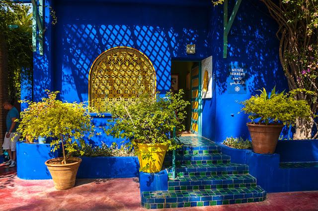 Majorelle Maroc albastru casa perete gradina culori gradinar pereti colorati